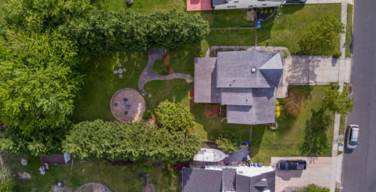 Aerial view of the yard 320 Alfred Avenue Glassboro