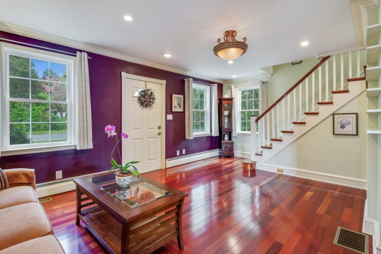 397 Ferrell Road Mullica Hill Living room with purple paint