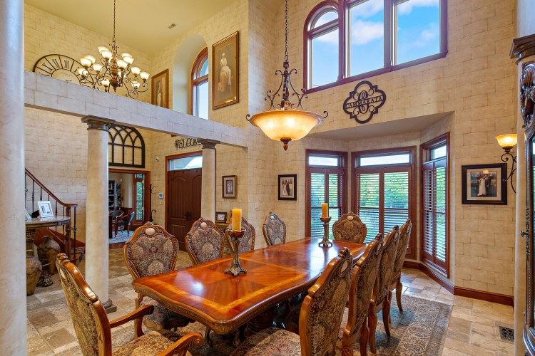 Formal dining room of 531 shadowbrook Trail