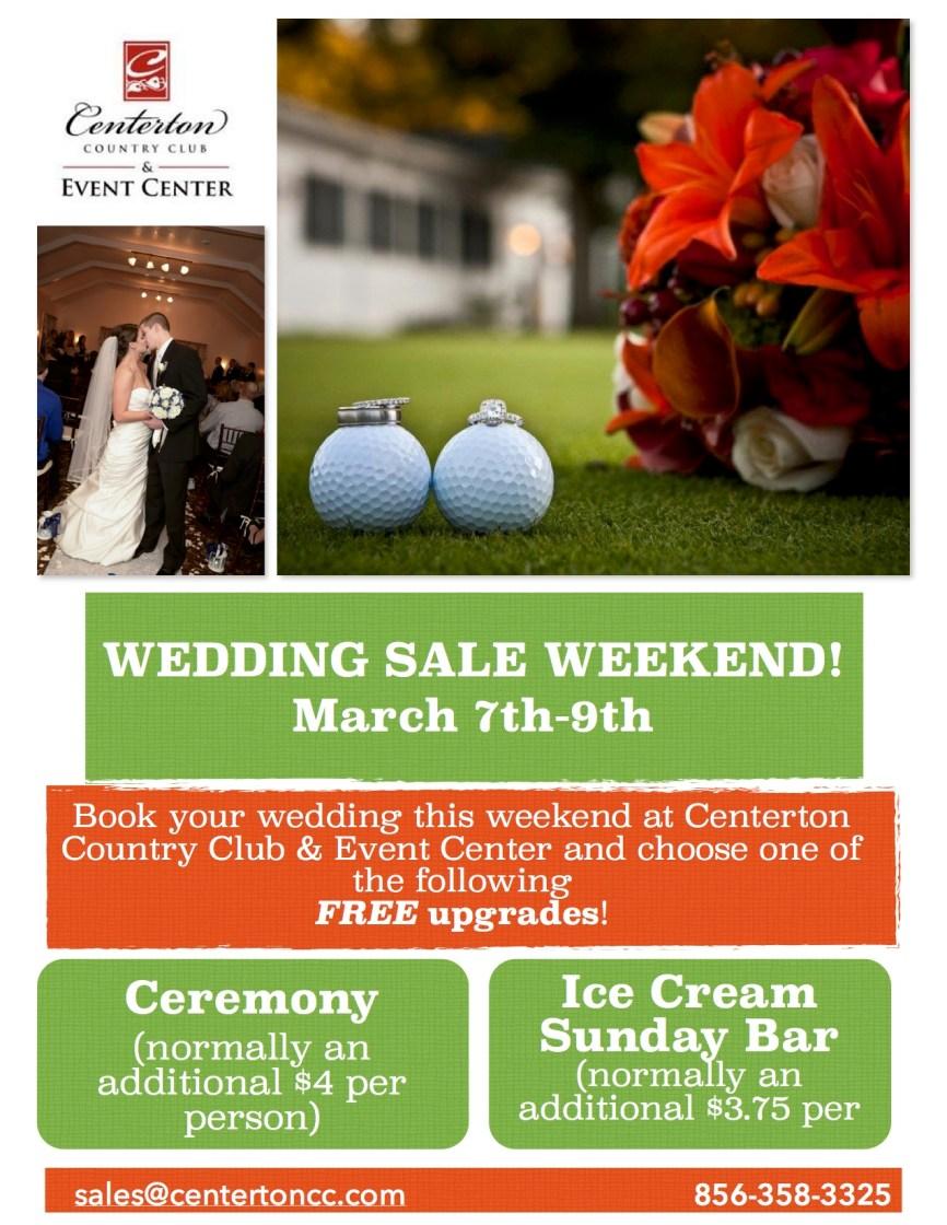 weekend wedding sale flyer jpeg