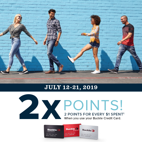 In terms of usage, it's an identical replacement for a regular credit card, which can be very. Earn 2x Points And Get B Rewards Twice As Fast When You Use Your Buckle Credit Card Southlake Town Square