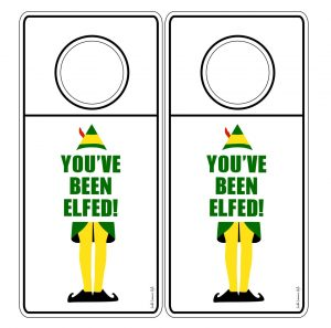 photograph relating to You Ve Been Elfed Printable identified as Youve Been Elfed Printable Cling Tags and Reward Tags - South
