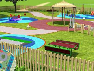 An artist's impression of the new Seashell Trust playground
