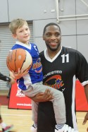 Ellis Cooper with a young fan