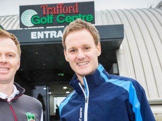 Peter Styes is pictured with the BBC's Dan Walker