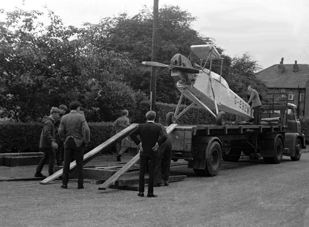 Aircraft being loaded onto truck