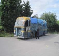 The coach before it was restored