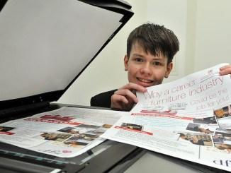 St Ambrose College pupils Dominic Longhorn DFS poster winner