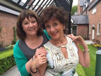 Jill Kirkham, Community Fundraiser at St Ann's Hospice, with TV fitness expert Irene Estry