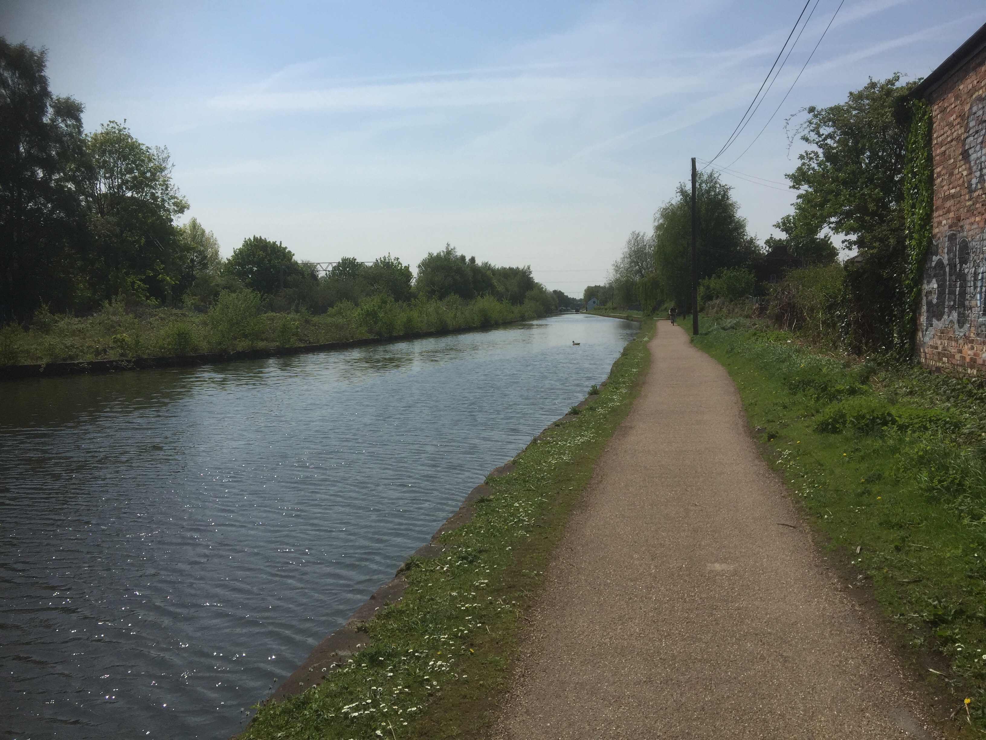 The Bridgewater Canal cycle path