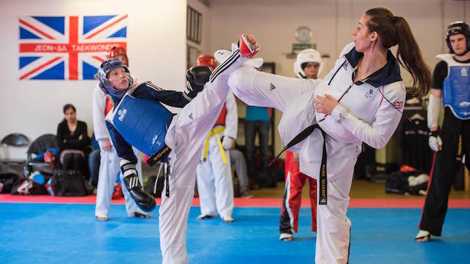 Bianca Walkden delivered a masterclass at Stockport's Jeon-sa Taekwondo Academy