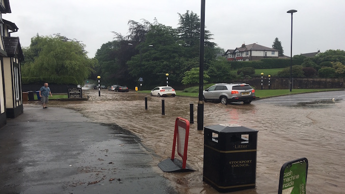 Floods in Stockport