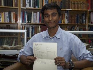 MGS GCSE student Harish A* results