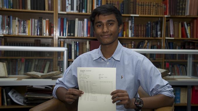 MGS GCSE student Harish A* results