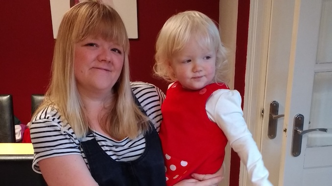 Mum and Manchester Credit Union member Ciara Davies with daughter Emmy, aged 2