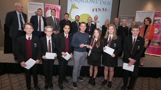 Wilmslow High School celebrate their Dragons' Den success