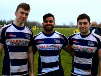 The Manchester Grammar School's Charlie Pozniak, Abdul Khan and Sol Neild are representing Sale Sharks Under-18 Academy (Eugene Pozniak)