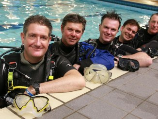 The East Cheshire Sub-Aqua Club team
