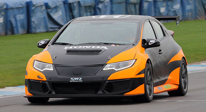 Kyle Hornby in the Honda Civic