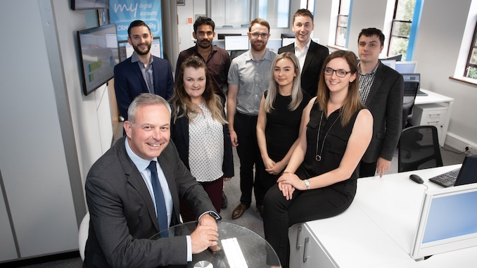 My Digital Accounts MD John Whelan and the team in Wilmslow