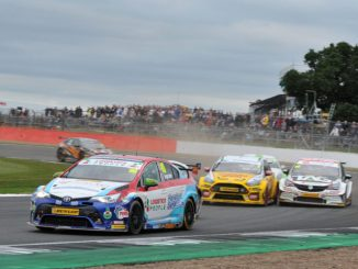 Tom Ingram in action at Silverstone
