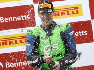 Ben Luxton celebrates his Oulton Park podium