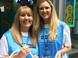 Sue Gilburn and Mary Vaughan raising funds for St Ann's Hospice