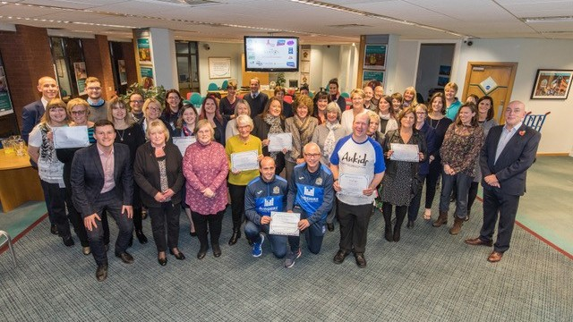 The 2018 Vernon Building Society Community Award winners