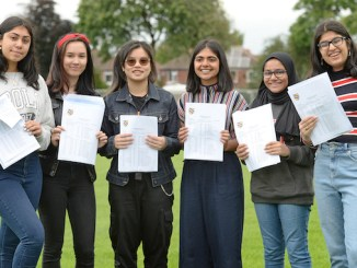 Withington Girls' School celebrate after achieving a stellar set of GCSE results