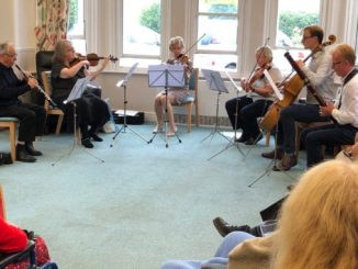 Musicians from the European Doctors' Orchestra performing at St Ann's Hospice.