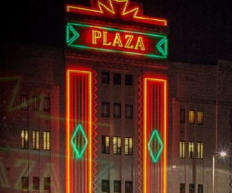 Stockport Plaza square advert