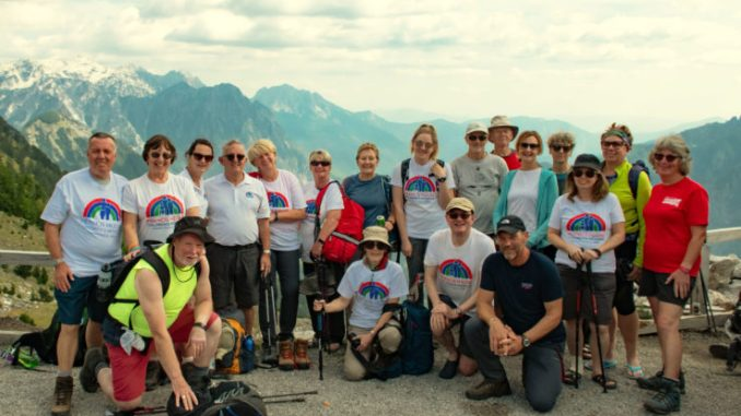Francis House group on finishing last walk at Thore Pass in the Albanian Alps