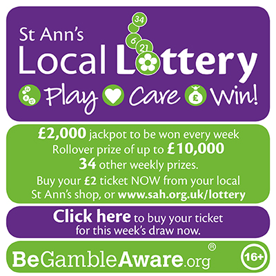 St Ann's Lottery advert