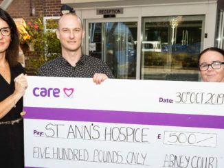 Abney Court donates to St Ann's Hospice