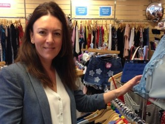 Amanda Brooks, who runs the St Ann's Hospice Trading Company
