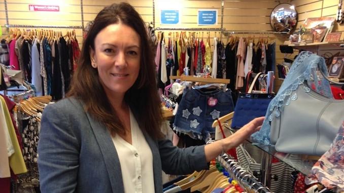 Amanda Brooks, who runs the St Ann's Hospice Trading Company