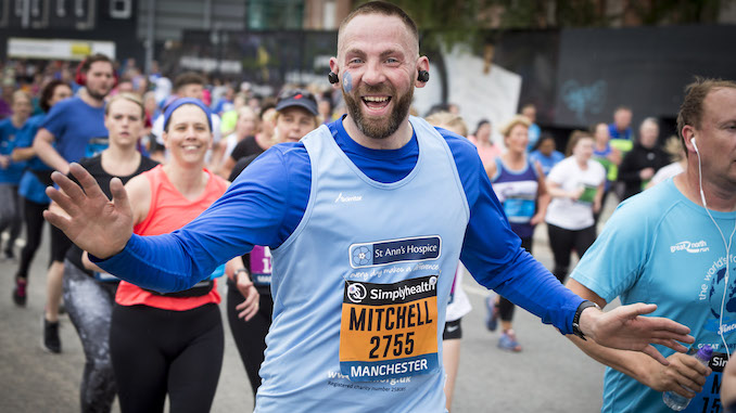 Mitchell Brough at 2019 Great Manchester Run