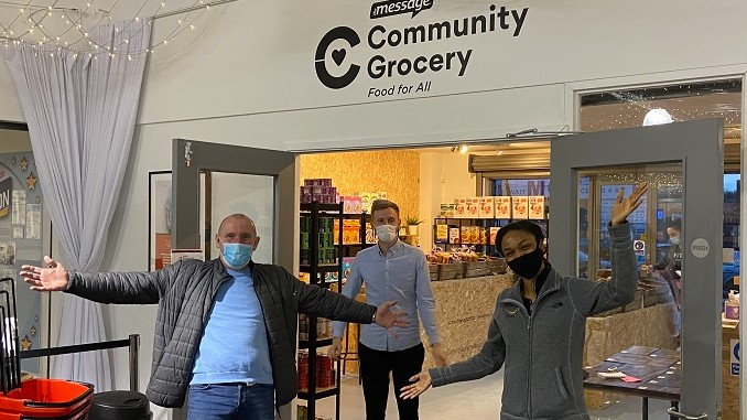Staff at the Community Grocery Store