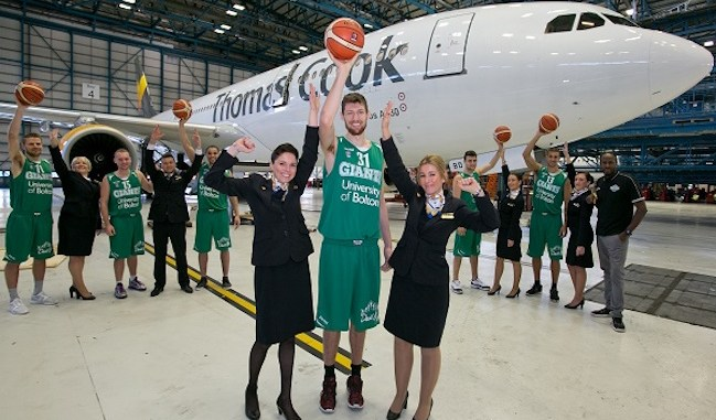 Manchester Giants and Thomas Cook cabin crew