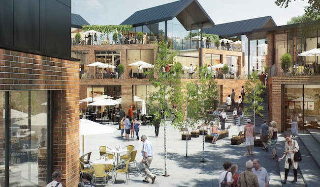 An artist's impression of the new leisure scheme in Macclesfield