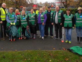 Members of the Crewe Clean Team ready for action