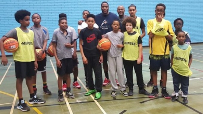 Ellis Cooper with some young fans