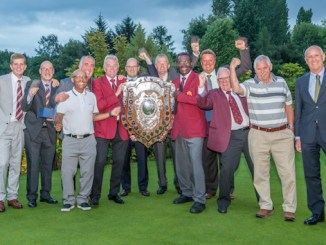 Didsbury Golf Club's men with the Mersey Shield