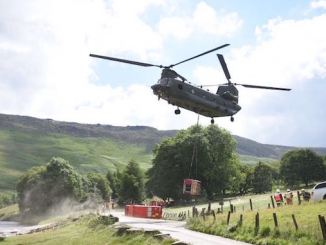 Exercise Triton II emergency planning with Chinook helicopter