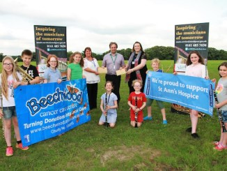 Stockport Music Service raised £1,100 for St Ann's Hospice and Beechwood Cancer Care Centre