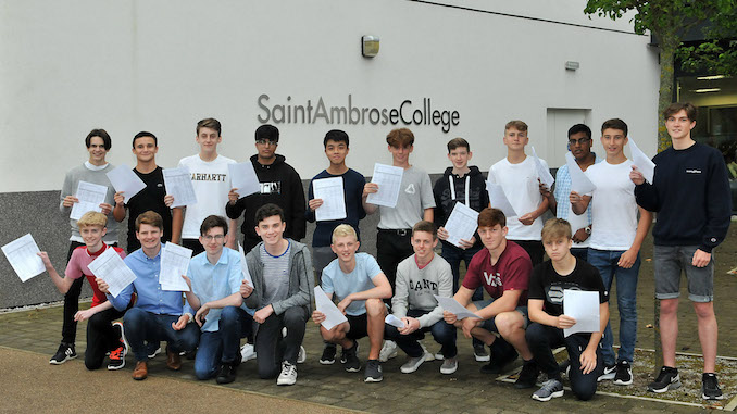 St. Ambrose College students best ever progress