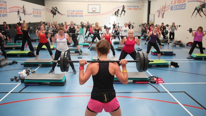 A body pump class at Life Leisure