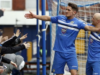 Jimmy Ball scores Stockport County's third (M Photographic)
