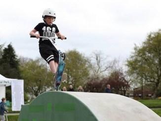 Cody Whittaker tries out Marple Skatepark