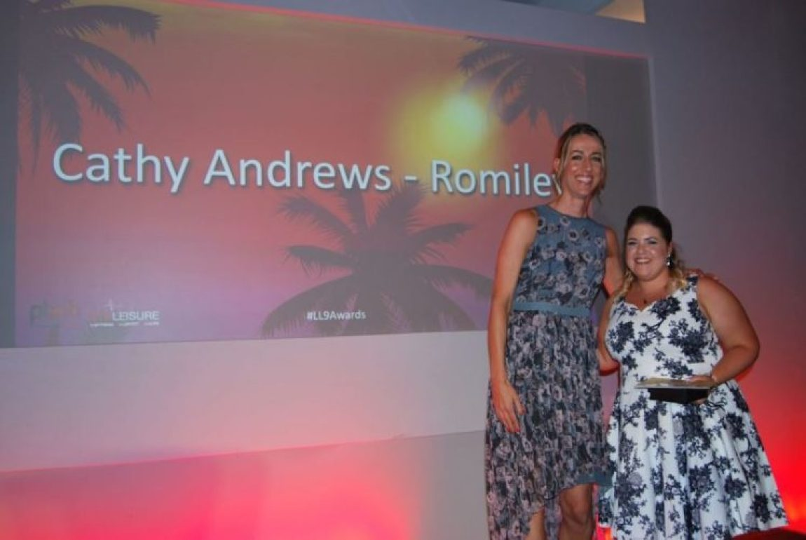Life Leisure, Cathy Andrews is presented with her award